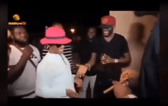 Wizkid Keeps 2baba's Hand Hanging At Patoranking's Album Party