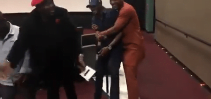 Video: 2face Reacts As Alex Ekubo Kisses His Wife, Annie Idibia (Gist)
